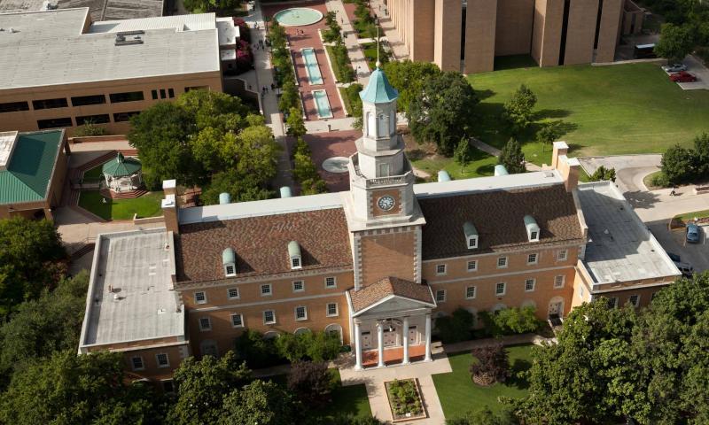 Aerial of UNT Denton campus